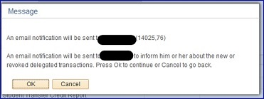 Email notification to contact message