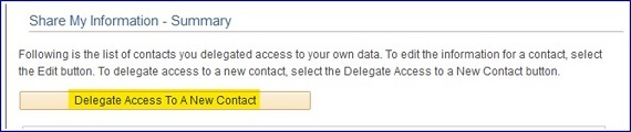 Delegate Access To A New Contact Button