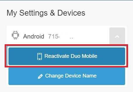 Example of the reactivate button.