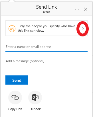 drop down arrow to allow permissions