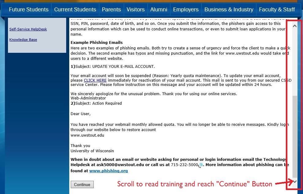 Phishing information image