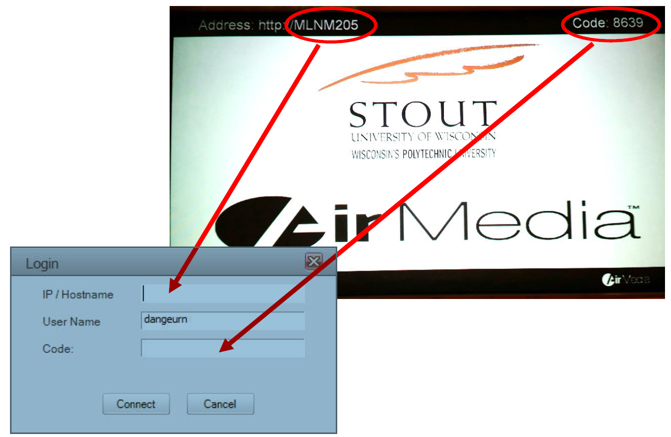 AirMedia Address is IP Hostname in software image