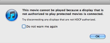 HDCP error Apple