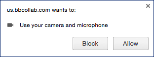 access to camera and microphone permission alert