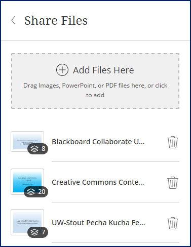 share files window
