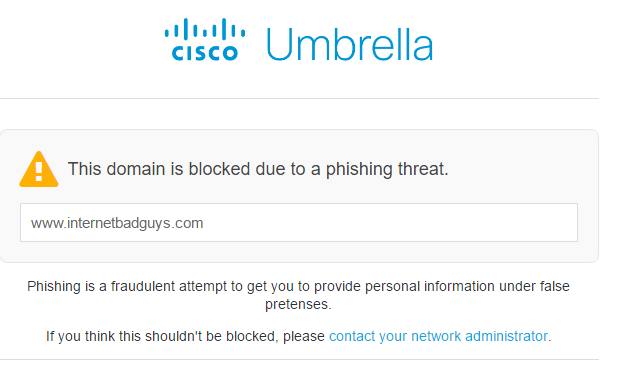 Cisco Umbrella Block Phish