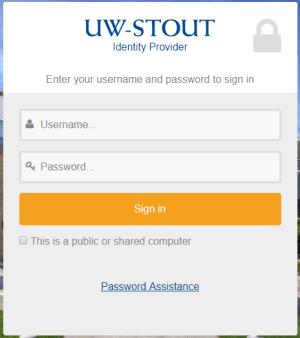 UW-Stout Identity Provider
