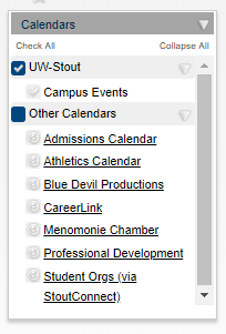 Other Campus calendars