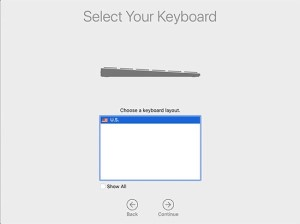 Select US Keyboard