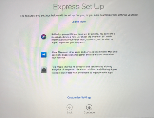 Mac Express Settings