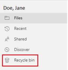 OneDrive: Restoring Deleted Files