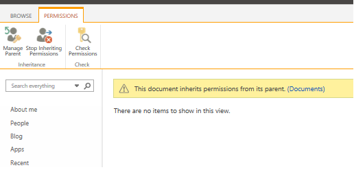 permissions page