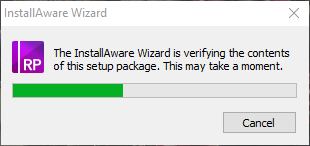 InstallAware Wizard setup package