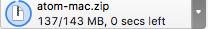 Atom.zip downloading