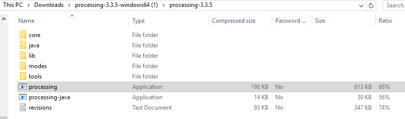 processing zip folder