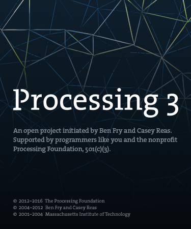 Processing opens
