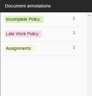 document annotations