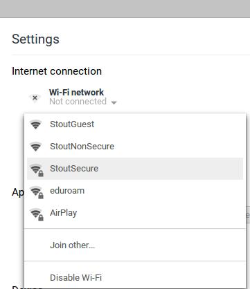StoutSecure drop down