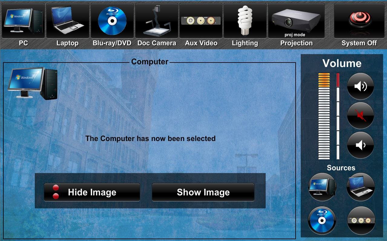 Crestron Example Screen