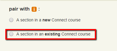 Select existing course
