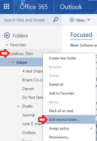 Add Shared Folder