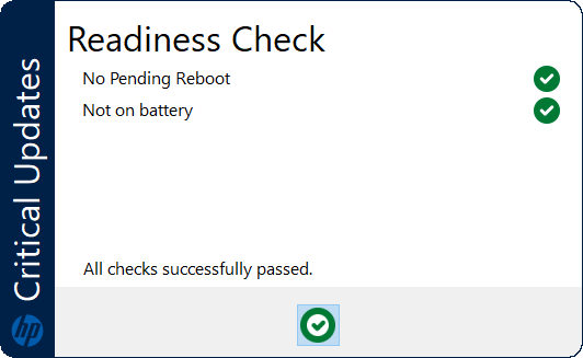 Critical Updates Readiness Window