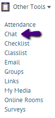 chat tool drop down