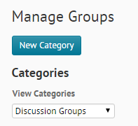 new category selection for groups
