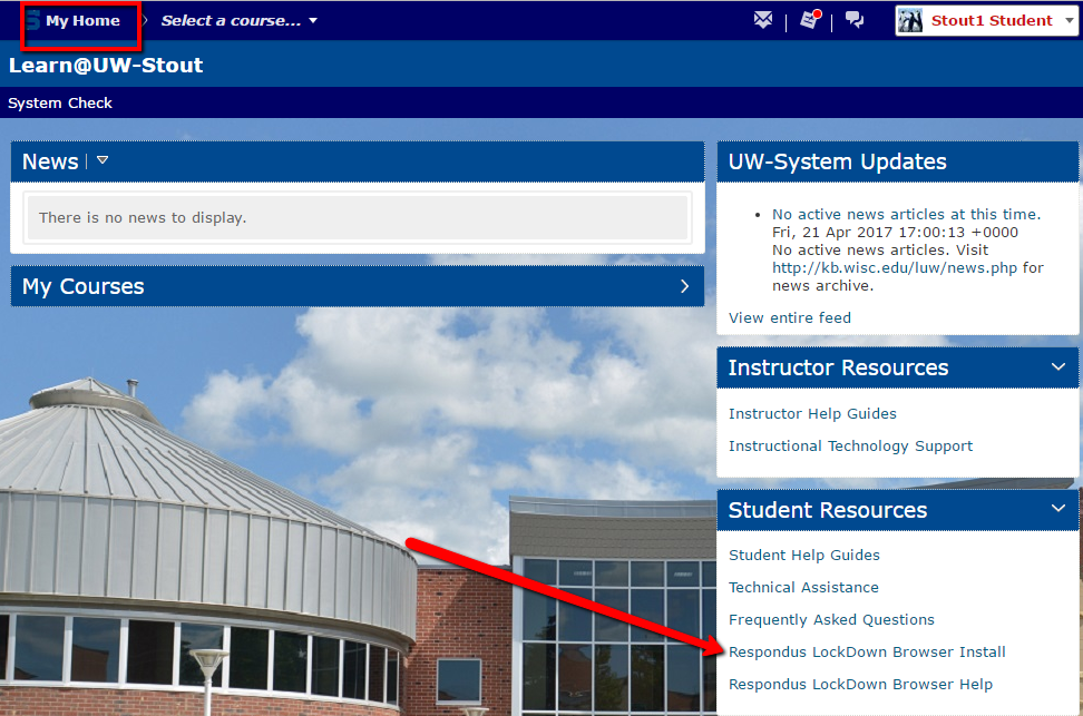 Learn@UW-Stout My Home Page