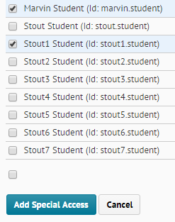 select students