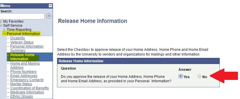Release Home Information