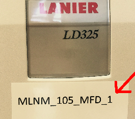 Lanier Printer name