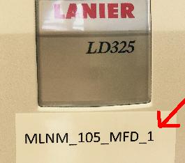 Lanier Printer name