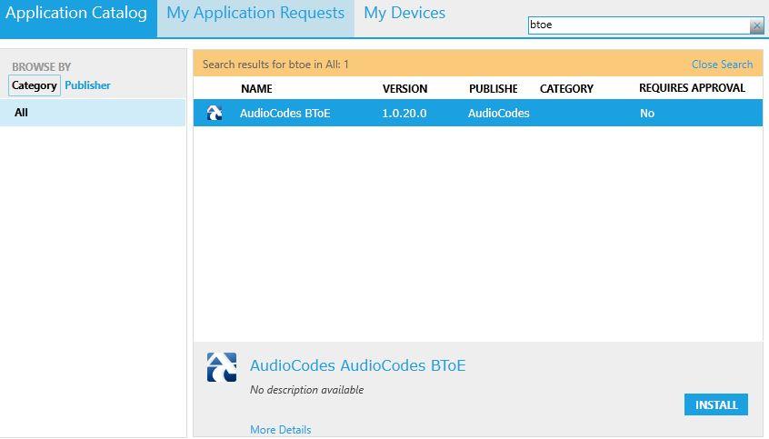 BToE App Catalog