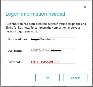 Skype for Business Login